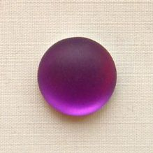 14mm Round Lunasoft Cabochon Grape - 1